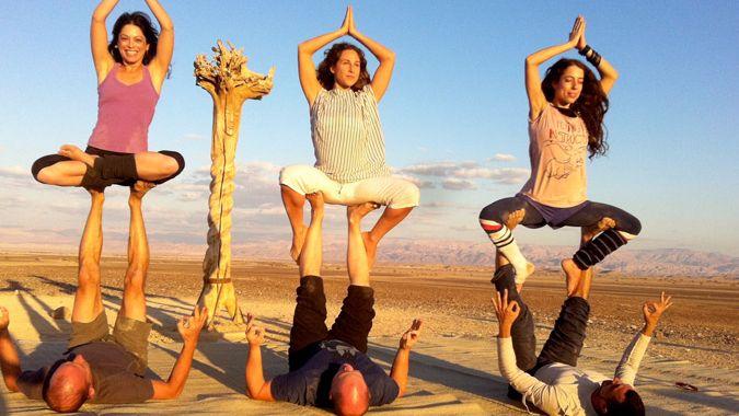Любителей йоги ждут в израильской пустыне
