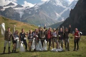 Состоялся первый экологический подъем на Эльбрус