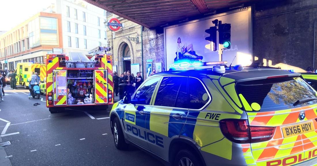 Теракт в Лондоне, пострадало 18 человек