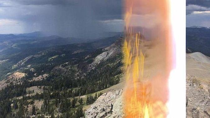 Австрийский турист сфотографировал молнию, которая его ударила