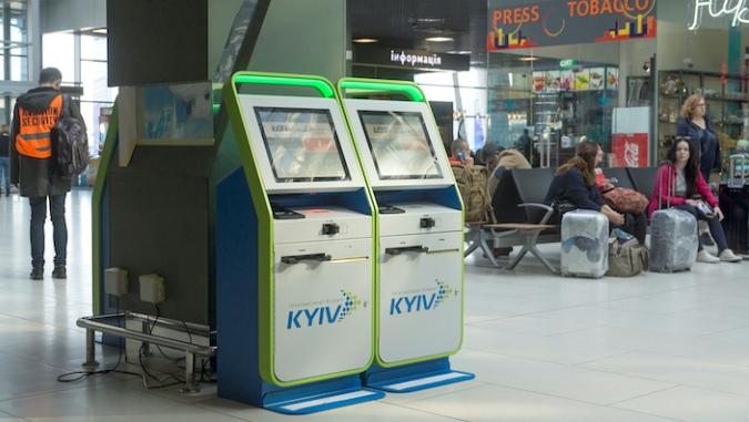 Теперь в аэропорту «Киев» можно зарегистрироваться самостоятельно