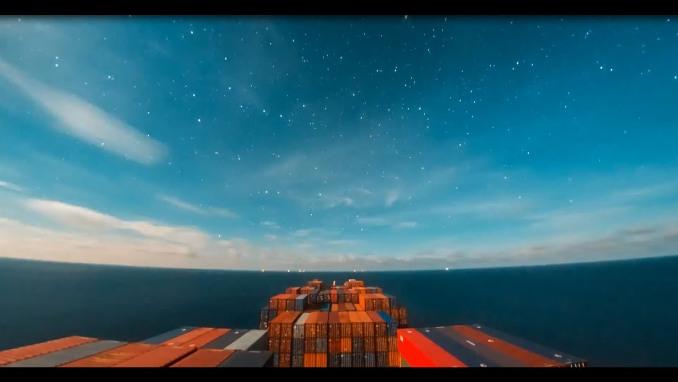 30-дневное путешествие корабля поместилось в 10-минутный эпичный ролик