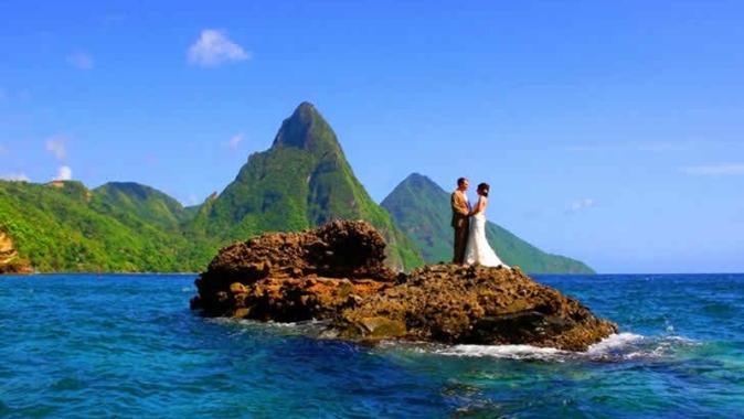 Свадьба в малине Сент-Люсии