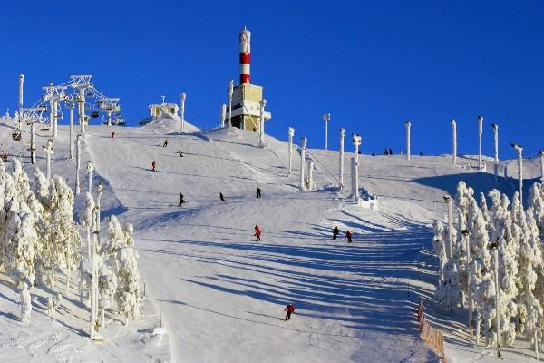 Финский курорт Рука открыл горнолыжный сезон