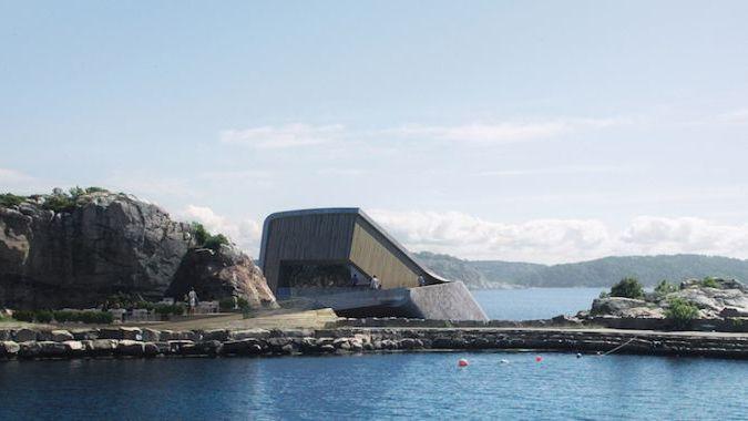 В Норвегии построят подводный ресторан в форме кита