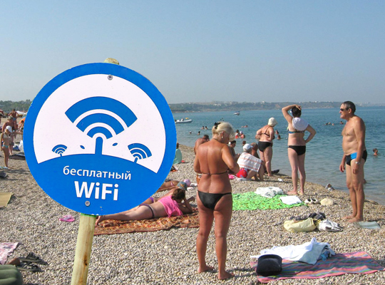 На пляжах Краснодарского края установили оборудование для Wi-Fi