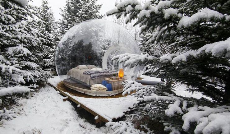 В Исландии предлагают провести ночь в «пузырьке»