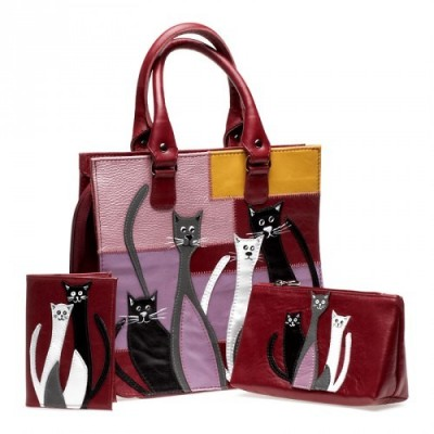 Стильные кошки на качественных сумках