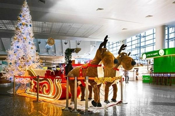 В столичных аэропортах началась горячая новогодняя пора