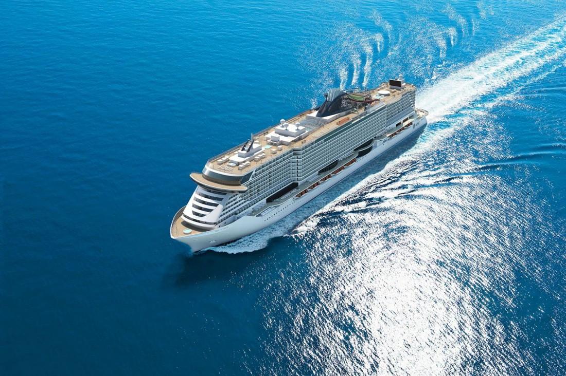 Компания «MSC Cruises» спустила на воду свой новый флагманский лайнер